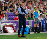ORLANDO, FL - MARCH 05: Phil Neville of England watches his team during a game between England and USWNT at Exploria Stadium on March 05, 2020 in Orlando, Florida.