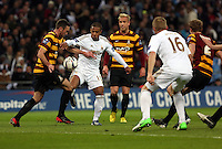 Pictured: Wayne Routledge (L), Garry Monk (R). Sunday 24 February 2013<br /> Re: Capital One Cup football final, Swansea v Bradford at the Wembley Stadium in London.