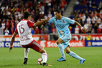 Harrison, NJ - Thursday Sept. 15, 2016: Salvatore Zizzo, Juan Carlos Portillo during a CONCACAF Champions League match between the New York Red Bulls and Alianza FC at Red Bull Arena.