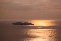 Sunset view from the summit of Kastellorizo, Greece