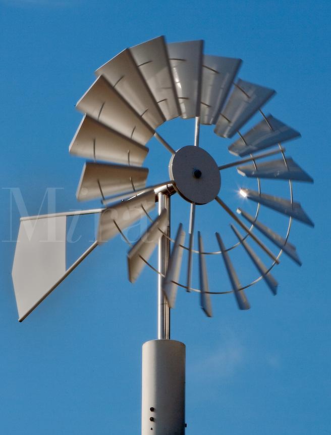 Windpump against blue sky