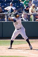 July 18, 2010: Eugene Emeralds' Rymer Liriano (#12) at-bat during a Northwest League game against the Everett AquaSox at Everett Memorial Stadium in Everett, Washington.