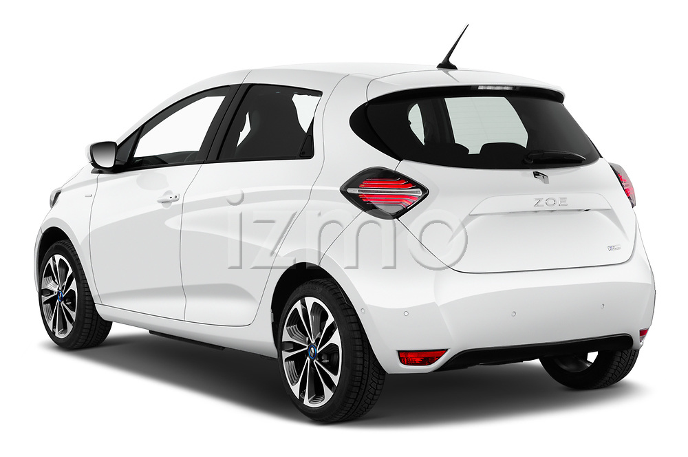 Car pictures of rear three quarter view of 2020 Renault ZOE Edition-One 5 Door Hatchback Angular Rear