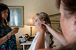 Winter and Shannon's Wedding A bride getting ready at the beautiful Delmar Hotel.
