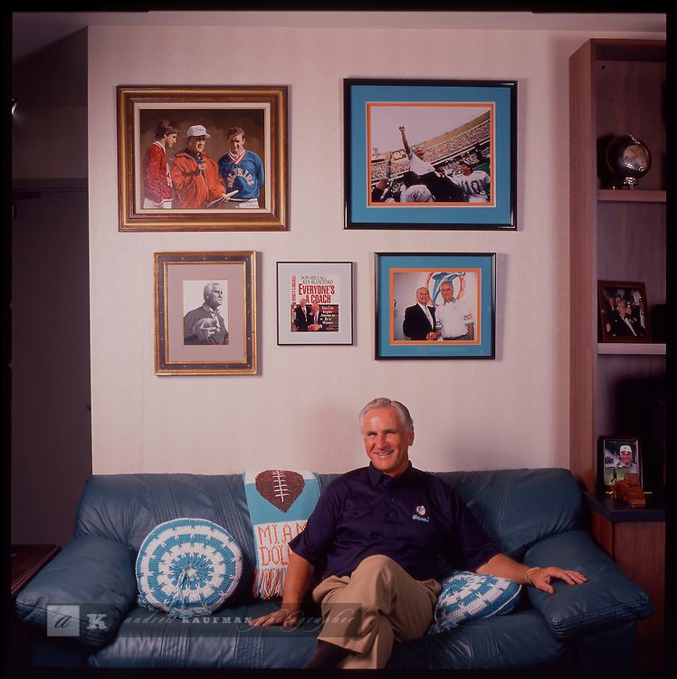 NFL Miami Dolphin coach Don Shula. Shot for South Florida Magazine.