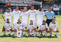 03 August 2008: Los Angeles Galaxy starting line-up is pictured before the game against the Earthquakes at McAfee Coliseum in Oakland, California.   San Jose Earthquakes defeated Los Angeles Galaxy, 3-2.