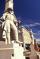 AJ2734, Lancaster, Pennsylvania, Soldiers and Sailors Monument (a 43-foot high square Corinthian column) at Penn Square in Lancaster in the state of Pennsylvania.