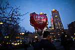 Americans celebrate saint Valentine's day in New York