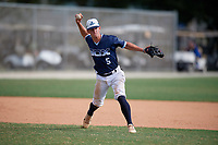 Nic Britt (5) during the WWBA World Championship at the Roger Dean Complex on October 13, 2019 in Jupiter, Florida.  Nic Britt attends Greenbrier Christian Academy in Chesapeake, VA and is committed to William & Mary.  (Mike Janes/Four Seam Images)