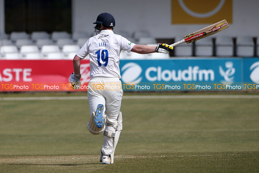 Alex Lees of Durham on the field as a runner during Essex CCC vs Durham CCC, LV Insurance County Championship Group 1 Cricket at The Cloudfm County Ground on 18th April 2021