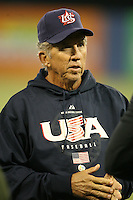 March 6, 2009:  Manager Davey Johnson of Team USA during the first round of the World Baseball Classic at the Rogers Centre in Toronto, Ontario, Canada.  Team USA defeated Canada 6-5 in both teams opening game of the tournament.  Photo by:  Mike Janes/Four Seam Images