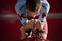 Jenthe Biermans (BEL/Katusha-Alpecin) warming up<br /> <br /> Stage 1 (ITT): Bologna to Bologna/San Luca (8.2km)<br /> 102nd Giro d'Italia 2019<br /> <br /> ©kramon
