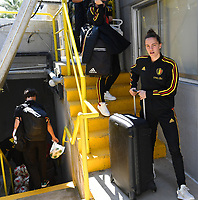 20190306 - LARNACA , CYPRUS :  Belgian Chloe Vande Velde  pictured during a women's soccer game between  Austria and the Belgian Red Flames  , on wednesday 6 March 2019 at the GSZ  Stadium in Larnaca , Cyprus . This is the last game for both teams during the Cyprus Womens Cup 2019 which decides places 3 or 4, The Cyprus Women's cup is a prestigious women soccer tournament as a preparation on the Uefa Women's Euro 2021 qualification duels. PHOTO SPORTPIX.BE | DAVID CATRY