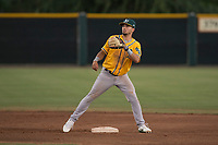 AZL Athletics shortstop Joseph Pena (5) during an Arizona League game against the AZL Giants Black at the San Francisco Giants Training Complex on June 19, 2018 in Scottsdale, Arizona. AZL Athletics defeated AZL Giants Black 8-3. (Zachary Lucy/Four Seam Images)