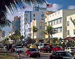 USA, Florida, Miami-Beach: art-deco-Viertel am Ocean Drive | USA, Florida, Miami-Beach: art-deco-district at Ocean Drive