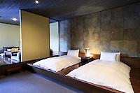 Hoshinoya Karuizawa luxury resort at the foot of Mt. Asam. Room.