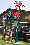Texas, US HIghway 81, 1930's Era Gas Station