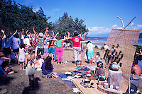 Cortez Island, BC, British Columbia, Canada - Performance by Local Residents at Craft Fair