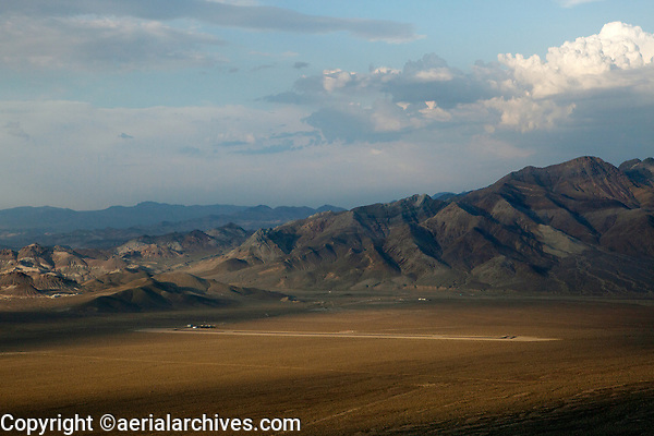 aerial photograph of Beatty Airport (BTY) near Death Valley National Park, Beatty, Nevada