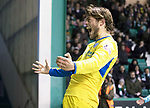Hibs v St Johnstone…18.11.17…  Easter Road…  SPFL<br />Murray Davidson celebrates his goal<br />Picture by Graeme Hart. <br />Copyright Perthshire Picture Agency<br />Tel: 01738 623350  Mobile: 07990 594431
