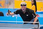 Toronto, ON - Aug 8 2015 -  Ian Kent competes in Group C MS8 table tennis in the ATOS Markham Parapan Centre during the Toronto 2015 Parapan American Games  (Photo: Matthew Murnaghan/Canadian Paralympic Committee)
