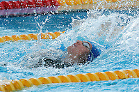 Britain's Gemma Spofforth swims on her way to win a women's 100 meters backstroke semifinal at the Swimming World Championships in Rome, 27 July 2009..UPDATE IMAGES PRESS/Riccardo De Luca