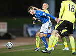 St Johnstone v St Mirren.....11.01.14   SPFL<br /> David Wotherspoon is fouled by Jim Goodwin<br /> Picture by Graeme Hart.<br /> Copyright Perthshire Picture Agency<br /> Tel: 01738 623350  Mobile: 07990 594431