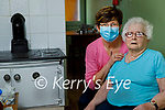 Betty Moody pictured at her home in Moyvane with her friend and neighbour Frances Leahy after receiving her Covid-19 vaccine.