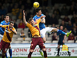 Motherwell v St Johnstone….07.05.16  Fir Park, Motherwell<br />Graham Cummins and Ben Hall<br />Picture by Graeme Hart.<br />Copyright Perthshire Picture Agency<br />Tel: 01738 623350  Mobile: 07990 594431