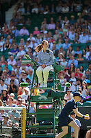 England, London, June 29, 2015, Tennis, Wimbledon, Umpire on chair on centrcourt<br /> Photo: Tennisimages/Henk Koster
