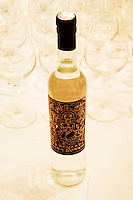 Bottle of Grappa Moscatel Bernardi Colonia Uruguay with a design label Uruguay, South America