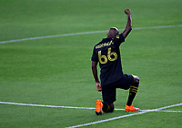 LOS ANGELES, CA - SEPTEMBER 02: Bradley Wright-Phillips #66 of LAFC during a game between San Jose Earthquakes and Los Angeles FC at Banc of California stadium on September 02, 2020 in Los Angeles, California.