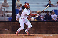 Johnson City Cardinals third baseman Chris Rivera #11 swings at a pitch during a game against the Danville Braves at Howard Johnson Field September 4, 2014 in Johnson City, Tennessee. The Braves defeated the Cardinals 6-1. (Tony Farlow/Four Seam Images)