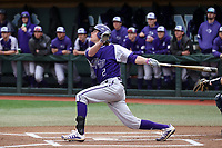CHAPEL HILL, NC - FEBRUARY 19: Brady Pearre #2 of High Point University hits the ball during a game between High Point and North Carolina at Boshamer Stadium on February 19, 2020 in Chapel Hill, North Carolina.