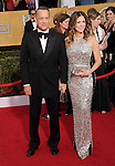 Tom Hanks, Rita Wilson attends The 20th SAG Awards held at The Shrine Auditorium in Los Angeles, California on January 18,2014                                                                               © 2014 Hollywood Press Agency