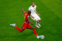 Romelu Lukaku of Belgium and Giorgio Chiellini of Italy compete for the ball during the Uefa Euro 2020 round of 8 football match between Belgium and Italy at football arena in Munich (Germany), July 2nd, 2021. Photo Matteo Ciambelli / Insidefoto