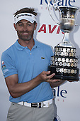 Raphael  Jacquelin (FRA) during the Open de Espana, Parador de El Saler, Valencia, Spain. 18-21 Apr. pictured with the winners trophy after the 9th play off hole with Max Kieffer..Picture golffile.ie/Jos Linckens