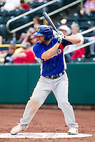 Shane Peterson (10) of the Midland RockHounds on deck during a game against the Springfield Cardinals on April 19, 2011 at Hammons Field in Springfield, Missouri.  Photo By David Welker/Four Seam Images