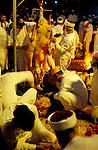 Samaria, the Samaritan Passover Sacrifice on Mount Gerizim, the skinning of the sheep&#xA;<br />