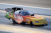 Sept. 18, 2010; Concord, NC, USA; NHRA funny car driver Bob Bode during qualifying for the O'Reilly Auto Parts NHRA Nationals at zMax Dragway. Mandatory Credit: Mark J. Rebilas /