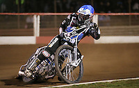 Adam Ellis of Lakeside Hammers - Lakeside Hammers vs Leicester Lions, Elite League Speedway at the Arena Essex Raceway, Pufleet - 04/04/14 - MANDATORY CREDIT: Rob Newell/TGSPHOTO - Self billing applies where appropriate - 0845 094 6026 - contact@tgsphoto.co.uk - NO UNPAID USE