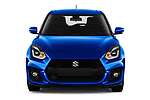 Car photography straight front view of a 2020 Suzuki Swift-Sport Hybrid 5 Door Hatchback Front View