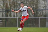 Zulte Waregem's defender Romy Camps  pictured during a female soccer game between SV Zulte - Waregem and White Star Woluwe on the 9th matchday of the 2020 - 2021 season of Belgian Scooore Women s SuperLeague , saturday 12 th of December 2020  in Waregem , Belgium . PHOTO SPORTPIX.BE | SPP | DIRK VUYLSTEKE