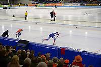 SPEEDSKATING: HEERENVEEN: 10-01-2020, IJsstadion Thialf, European Championship distances, 1500m Men, Koen Verweij (NED), Denis Yuskov (RUS), ©foto Martin de Jong