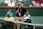 March 12, 2018: Fernando Verdasco (ESP) sits and waits for the lights to be turned on during his defeat by Taylor Fritz (USA) 4-6, 6-2, 7-6(1) at the BNP Paribas Open played at the Indian Wells Tennis Garden in Indian Wells, California. ©Mal Taam/TennisClix/CSM