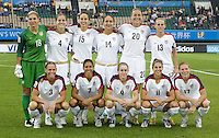 The United States starting XI. The United States (USA) and North Korea (PRK) played to a 2-2 tie during a FIFA Women's World Cup China 2007 opening round Group B match at Chengdu Sports Center Stadium, Chengdu, China, on September 11, 2007.