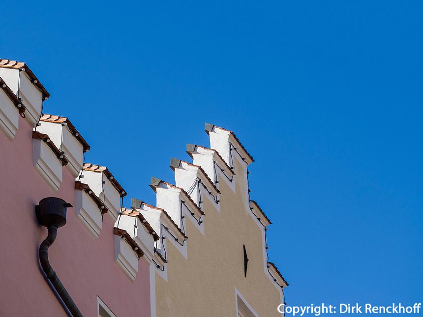 Giebel in der Altstadt, Sterzing, Region Südtirol-Bozen, Italien, Europa<br /> gabled houses, hictoric city of Sterzing, Region South Tyrol-Bolzano, Italy, Europe