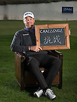 """Peter Hanson was asked by Ballantine's at the BMW Masters to describe how he stays true to himself; his answer is shown. Ballantine's, who recently announced their new global marketing campaign, """"Stay True, Leave An Impression"""", is a sponsor at the BMW Masters, which takes place from the 24-27 October at Lake Malaren Golf Club in Shanghai.    Photo by Andy Jones / The Power of Sport Images for Ballantines."""