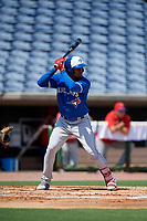 Toronto Blue Jays Mc Gregory Contreras (22) at bat during an Instructional League game against the Philadelphia Phillies on September 17, 2019 at Spectrum Field in Clearwater, Florida.  (Mike Janes/Four Seam Images)