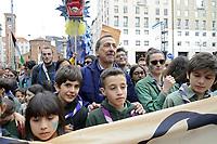 """- Milano, 02 marzo 2019, grande manifestazione popolare """"People - prima le persone"""",  più di 200mila in piazza, 1200 associazioni ed organizzazioni no-profit contro fascismo, razzismo ed ogni forma di discriminazione. Giuseppe Sala, sindaco di Milano<br /> <br /> - Milan, Mars 02, 2019, large popular event """"People - first the persons"""", more than 200 thousand in the square, 1200 associations and non-profit organizations against fascism, racism and all forms of discrimination. Giuseppe Sala, Mayor of Milan"""